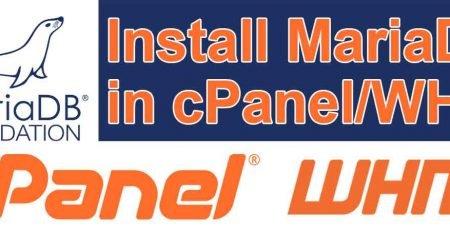 Install-MariaDB-in-cPanel-WHM