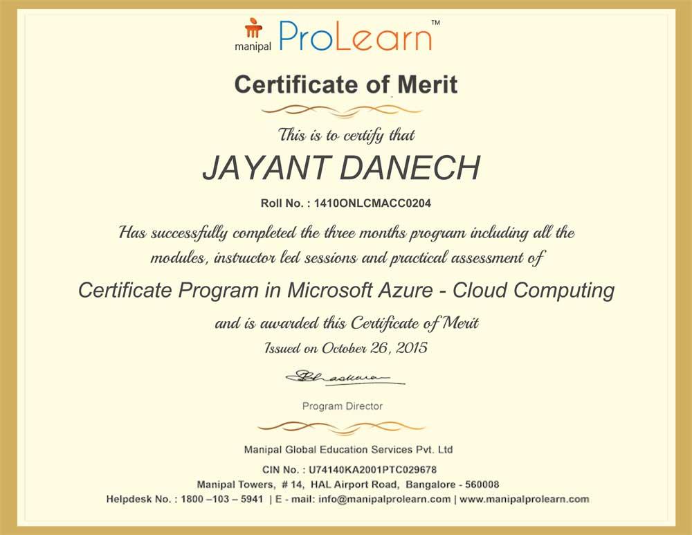 Azure certificate