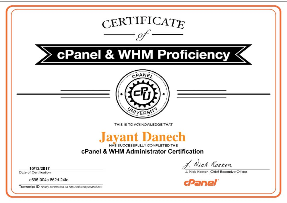certification-cPanel-&-WHM-Administrator-Certification-jayant